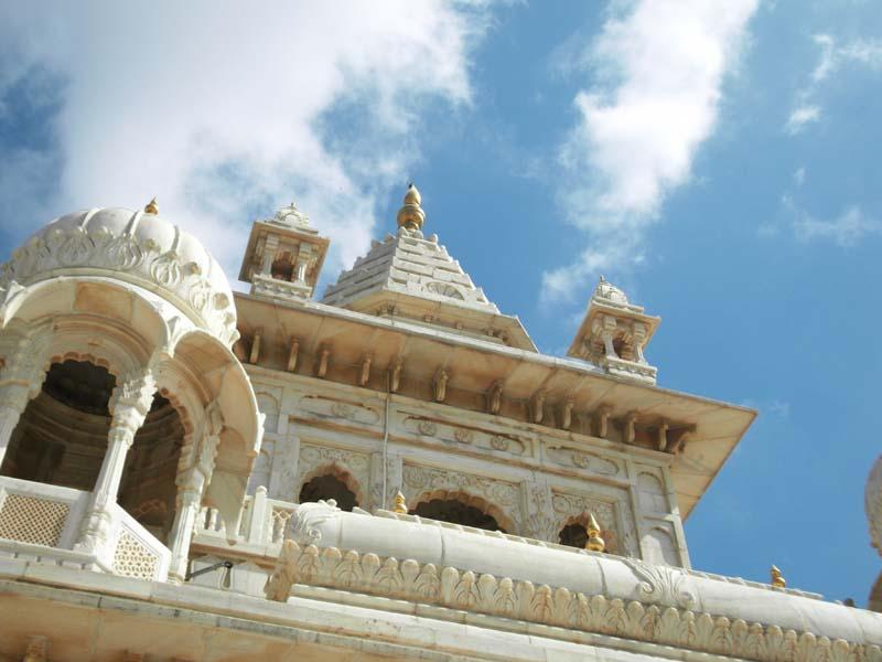 Detail of palace tower in Jodphur, Rajastan, India.
