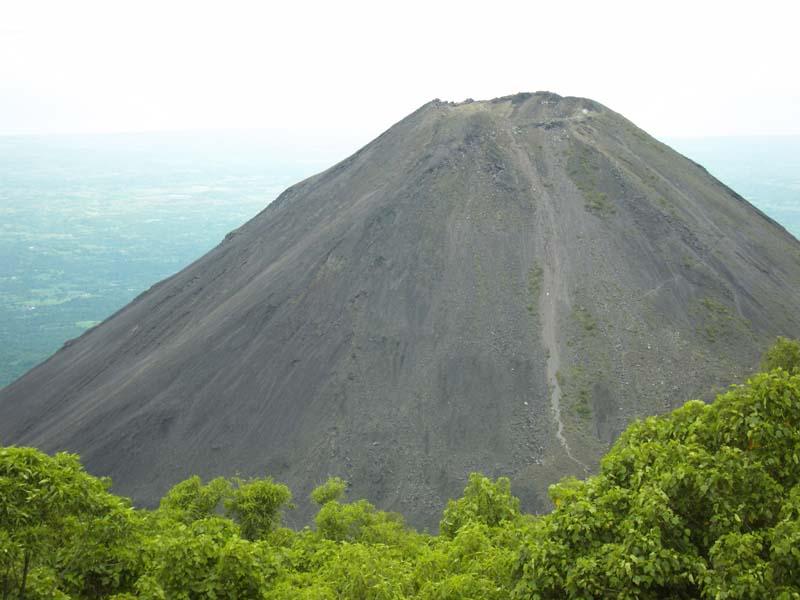Izalco volcano in western El Salvador.