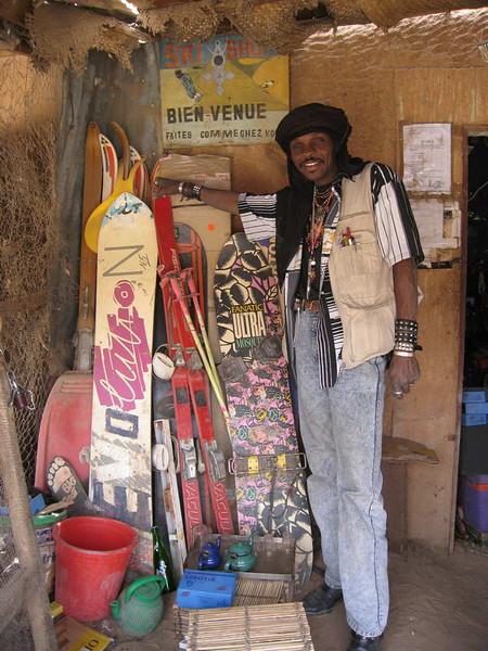 Proud proprietor of the Ski shop in Agadez, Niger, West Africa