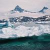 Pack ice harbour cruise outside of Amassalik Greenland.