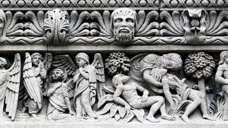 Building detail in south Manhattan, New York City