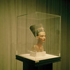 Nefertiti on display in Berlin Germany before the fall.
