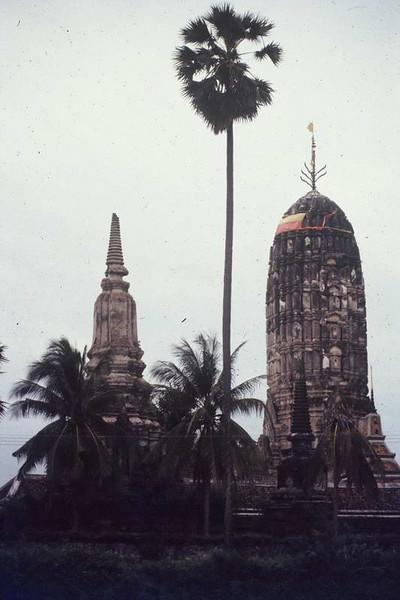Ancient monoliths in Ayuthaya Thailand.