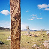 """Deer Stones"" - Turkic markers on a grassy mountain plain outside of Moron, northern Mongolia."