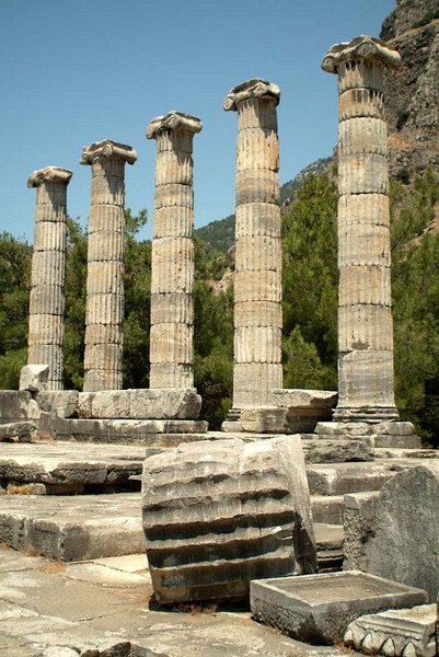 Last remaining colonnade at Preine, along the Agean coast, eastern Turkey.