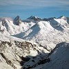 View over the top of the world in St Anton, Austria.