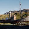 Abandoned steamship in Grytviken, South Georgia, British Sub-Antarctic Territory