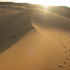 The pristine dunes at sunset near Bilma in the Tenere desert