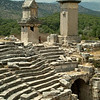 The collapsing amphitheater in Xanthos, along the Lycian Way, Turkey