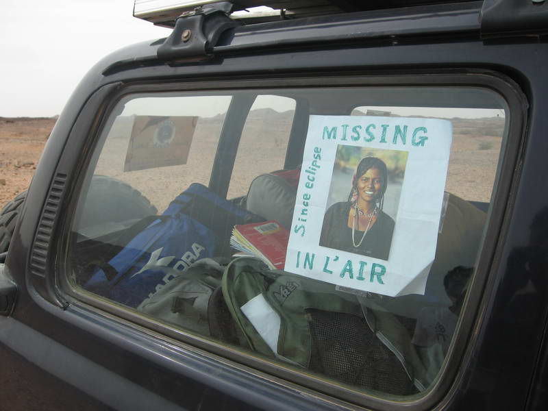 Posted notice for Rei's missing wife!