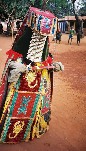 """The """"Merchant"""" from the Ancestors mask dances in Cove, Benin"""