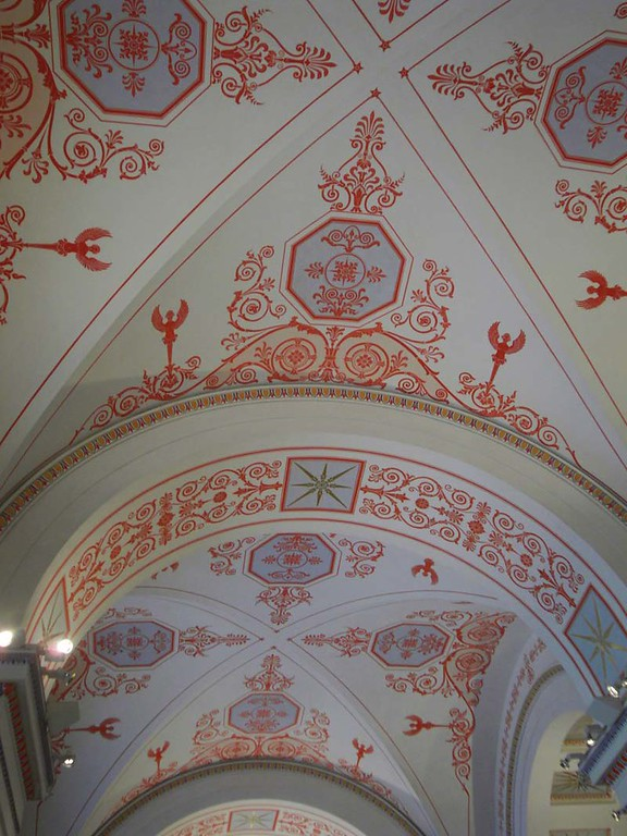 Ceiling detail from the Hermitage museum in St Petersburg, Russia