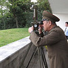 "The General inspects the (lesser known) ""great wall"" from the North Korean side"