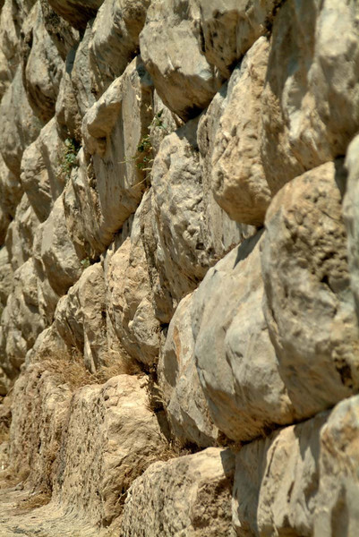 Detail of a rusticated stone wall inPreine, along the Agean coast, eastern Turkey.