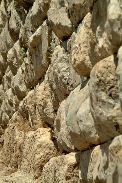 Detail of a rusticated stone wall inPreine, along the Agean coast, eastern Turkey.