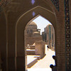 View into the Madrassah in Samarkand, Uzbekistan.