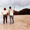 """Bob & Jane impersonate hedonistic beach creatures at Air Papan; (""""Been There, Done That"""") Malaysia."""