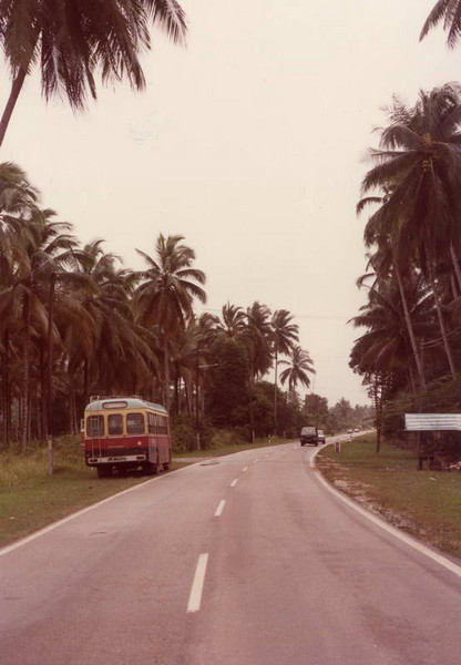 """Malaysian """"Road to Nowhere"""" near Air Papan/Mersing on the est cost of Malaysia"""