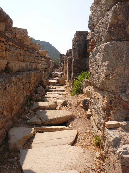Back street in the ruins of Ephesus, Turkey.