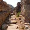 Back street in the ruins of Ephesus, Turkey.