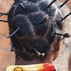 Hair creativity in rural Burkina Faso.