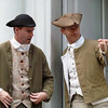 HIstorical re-enactment figures give us the inside view of Independence Hall in Philadelphia, Pennsylvania
