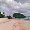 Idyllic beach view of El Nido, Palawan, Philippines.