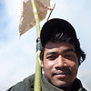 """Portrait of a """"Catcher"""" on the crater rim of Mt Bromo during Yadnya Kasada."""