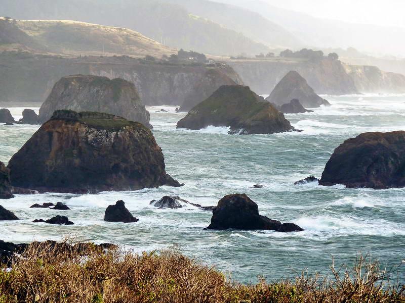 Sentinels in the sea near Mendocino, California