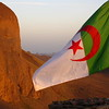 Algerian flag on the summit of the Hogar mountains