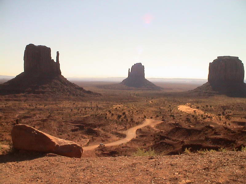 View from the lodge in Monument Valley, Arizona USA.