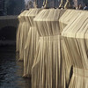 Christo's wrapped Pont Neuf bridge in Paris France.