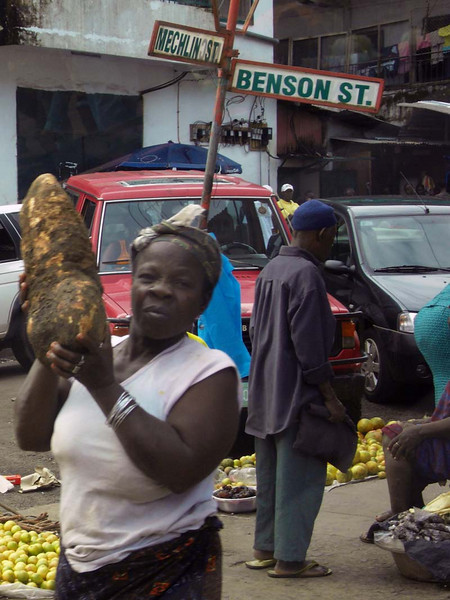 Giant tubers stalk the streets in Monrovia, Liberia.