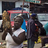 Giant tubers stalk the streets in Monrovia, Liberia.