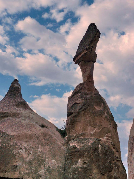 Scenic outcrop at the Devrent Pasa Baglari (Fairy Chimneys) in Kapydokia Turkey.