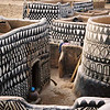 Painted dwellings in a Gurunsi village of rural Burkina Faso