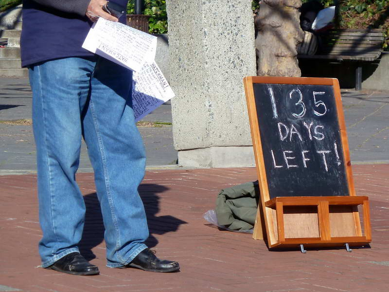 """The end is nigh!"" on campus in Berkeley, California"