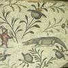Mosaic floor detail of pygmies at the Villa Sina along the Mediterranean coast in rural Libya.