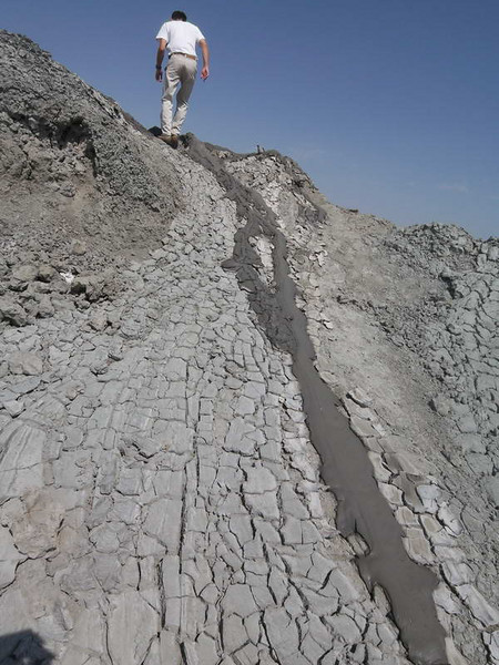 Detail of a mud volcano (natural gas vent) in Gobustan, south of Baku