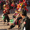 Street dancers parade during Inti Raymi in Cuzco, Peru.