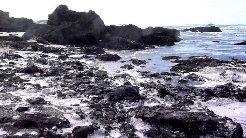 Crashing waves at Glass beach, Fort Bragg Northern California