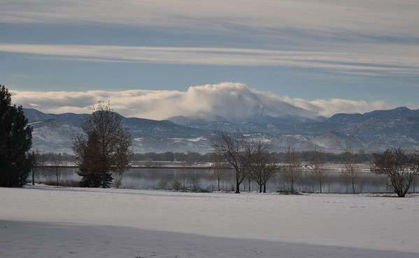 Across Macintosh Lake after the last snow.