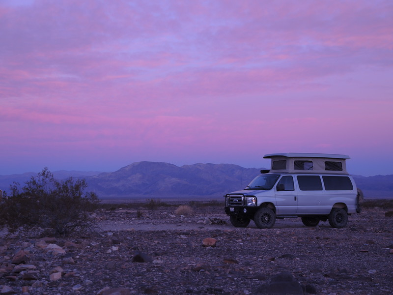 Van at Sunrise near Joshua Tree, 11-10-2017 Photo by Sherry