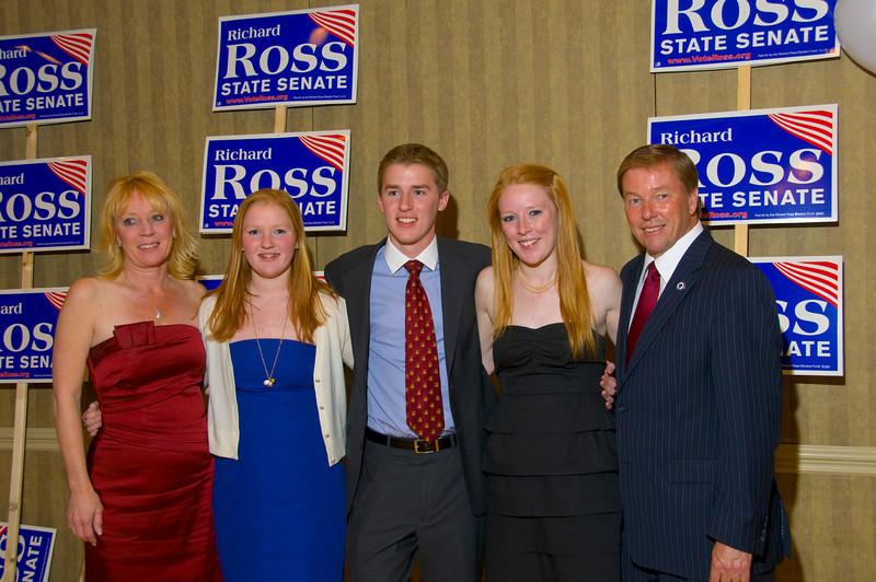 Senator Richard Ross and family