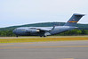 C17 Globemaster begins takeoff roll at the Westfield (MA) Air Show in August