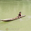 Quichua boy in canoe revisited