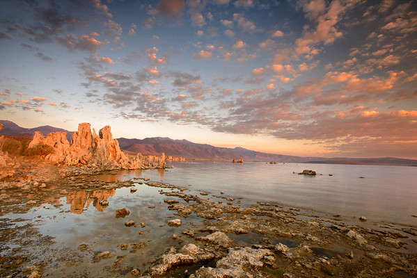A stormy sunrise at Mono Lake in late July.