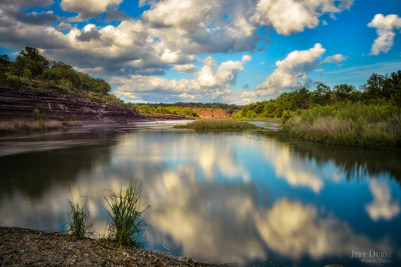 Llano River Sunset Original Reflection