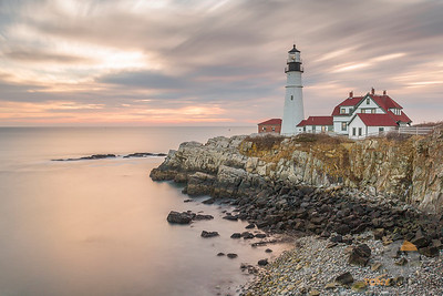 Portland Head Light at Low Tide