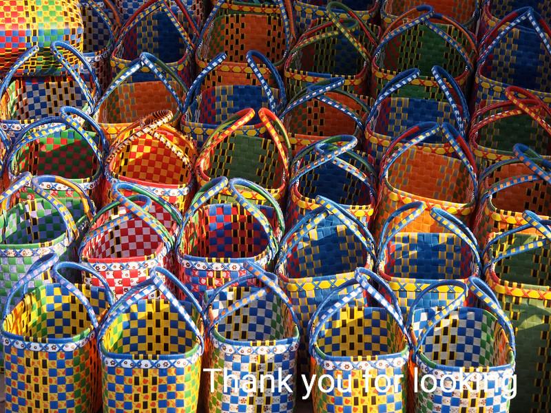 Baskets in a Market:  Burma